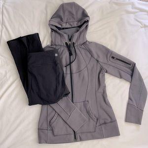 Athleta bundle: jacket & crops EUC